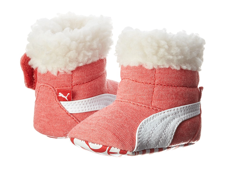 Puma Kids Baby Boot Fur (Infant/Toddler) (High Risk Red/White) Girls Shoes