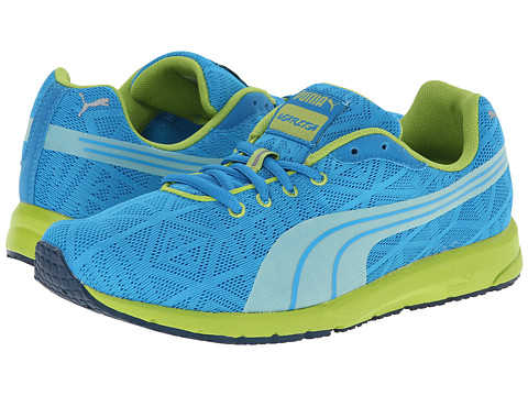 Puma Kids - Narita V2 Jr (Little Kid/Big Kid) (Methyl Blue/Lime Green/Methyl Blue) Girls Shoes