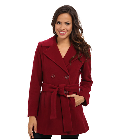 Pendleton - Belted Trench Coat (Berry) Women's Coat