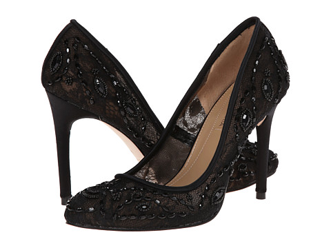 BCBGMAXAZRIA - Bettie (Black Lace Mesh) High Heels