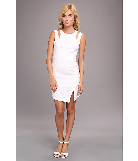 BCBGeneration - Woven Casual Dress LIJ67A14 (White) Women's Dress