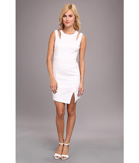 BCBGeneration - Woven Casual Dress LIJ67A14 (White) Women's Dress