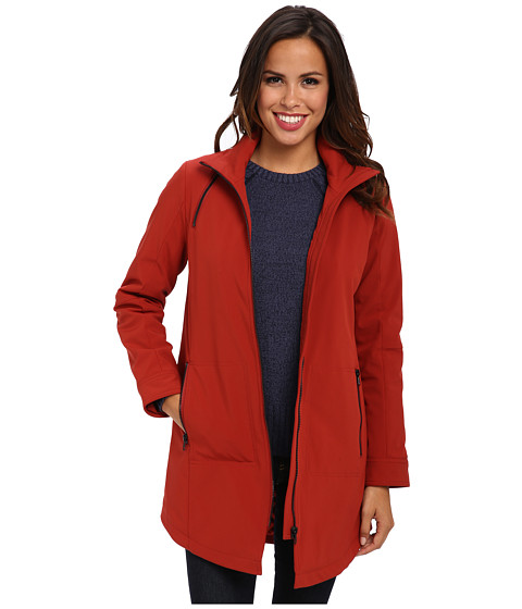 Pendleton - Water-Resistatnt Zip Front Coat (Roma Red) Women