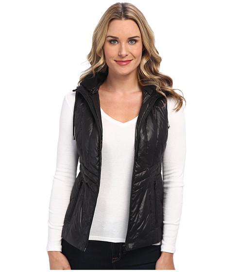 Pendleton - Hooded Quilted Vest (Black) Women