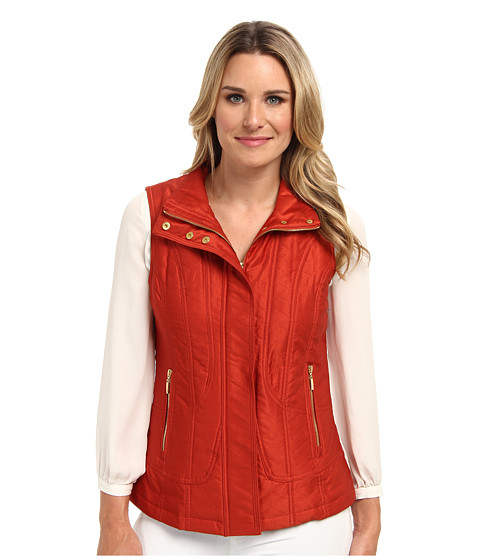 Pendleton - Quilted Vest (Roma Red) Women
