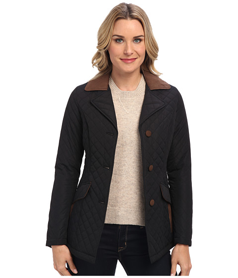 Pendleton - Trimmed Quilted Coat (Black) Women's Coat