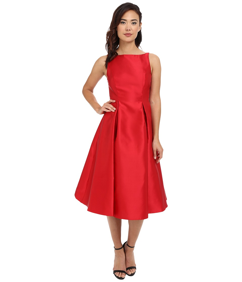 Adrianna Papell - Sleeveless Tea Length Dress (Red) Women's Dress