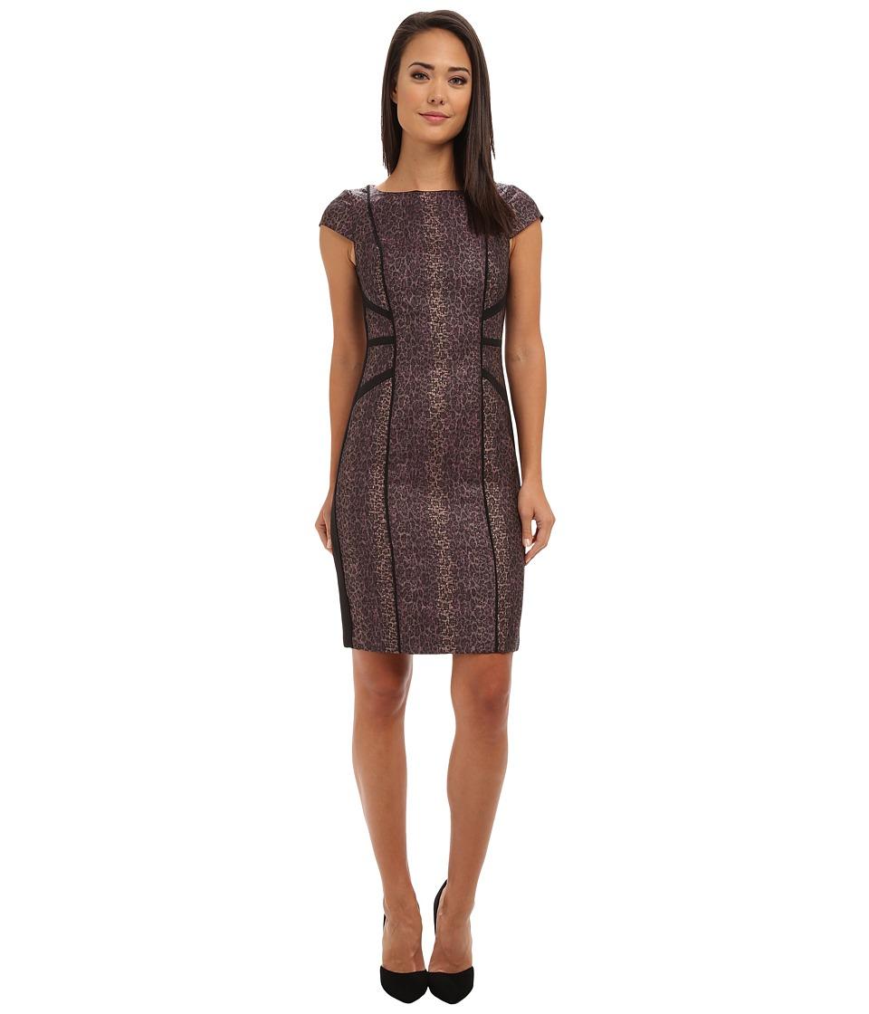 Adrianna Papell - Combo Jacquard Sheath (Mink) Women's Dress