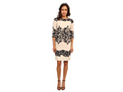 Adrianna Papell Fitted Placed Printed Lace (Cashmere)