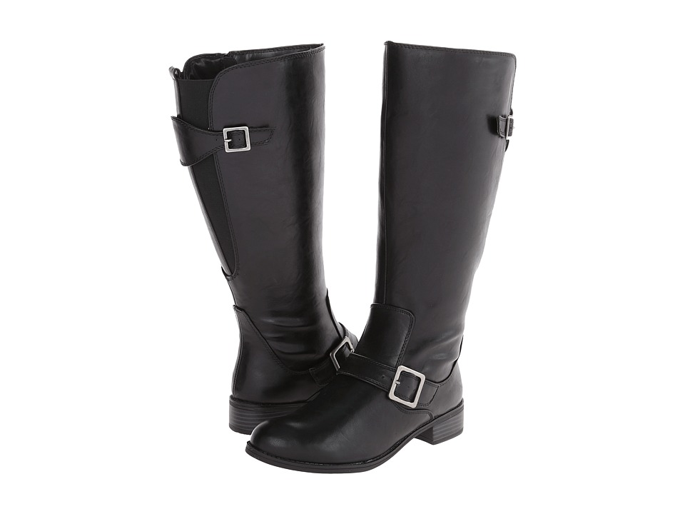 LifeStride - Spell (3) Wide Shaft (Black Kraft Ws) Women's Zip Boots