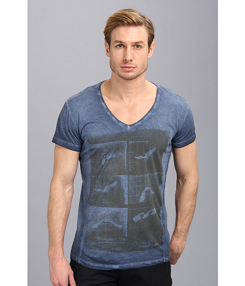 Diesel - T-Heng-RS (Navy Blue) Men's Short Sleeve Pullover