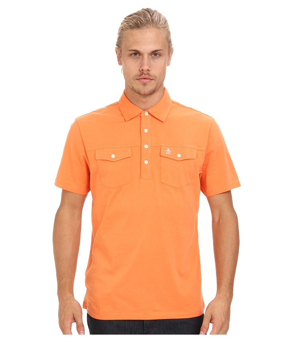Original Penguin - Double Pocket Polo (Coral Rose) Men's Short Sleeve Pullover