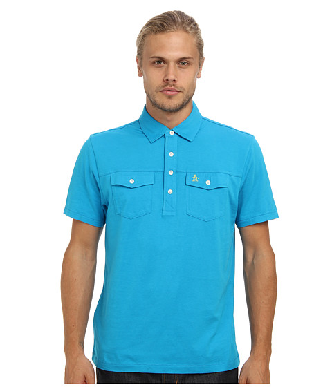 Original Penguin - Double Pocket Polo (Vivid Blue) Men