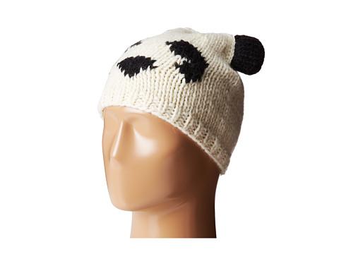 BCBGMAXAZRIA - Intarsia Panda Hat (Ivory) Caps