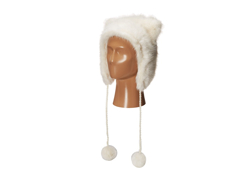 BCBGMAXAZRIA - Animal Trapper Hat (Ivory) Caps