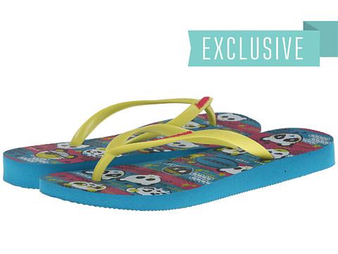Havaianas - Havaianas Slim Cool Flip Flops (Capri Blue) Women's Sandals