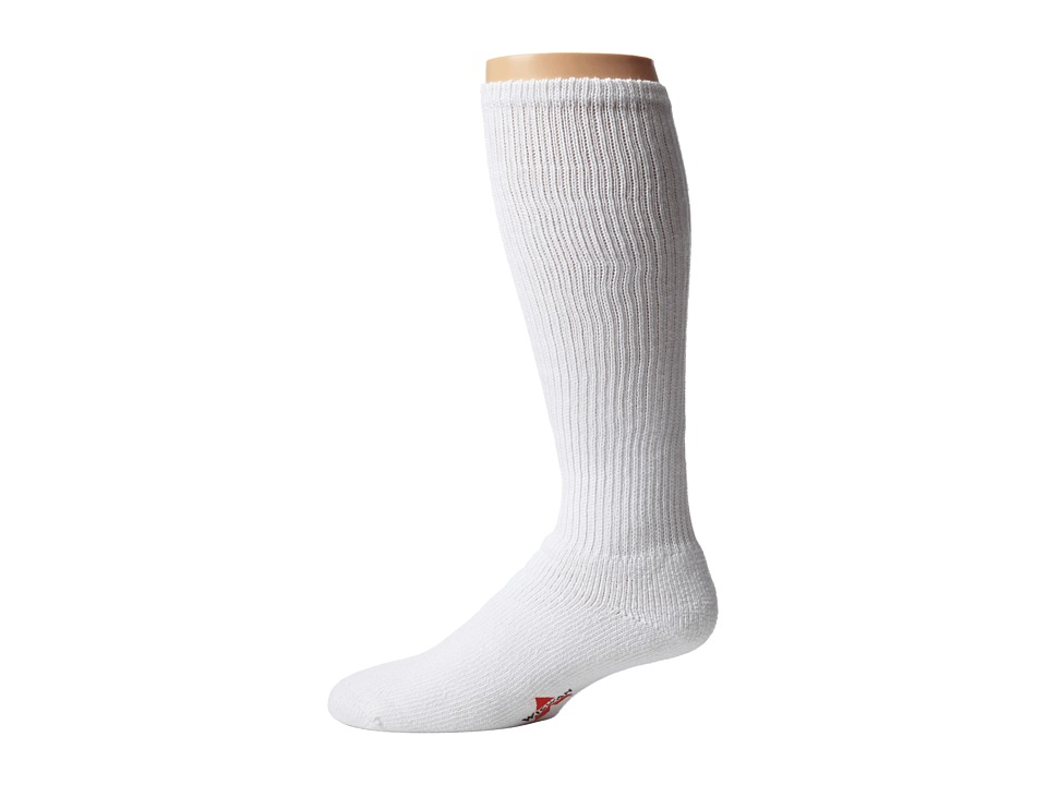 Wigwam - At Work King Cotton High 3-Pair Pack (White) Knee High Socks Shoes