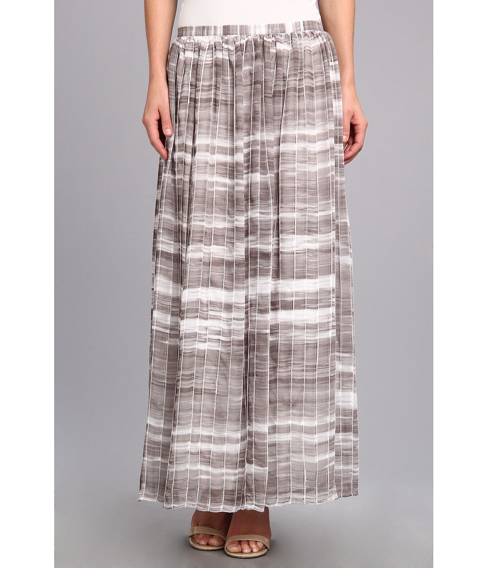 Calvin Klein - Print Pintuck Maxi Skirt (Gym Grey Multi) Women's Skirt
