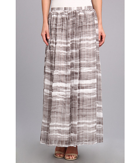 Calvin Klein - Print Pintuck Maxi Skirt (Gym Grey Multi) Women