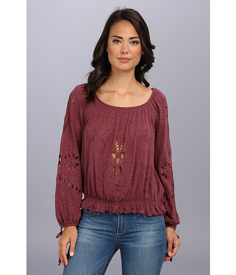 Free People - Fpx Jewel Blouse (Dark Berry) Women's Blouse