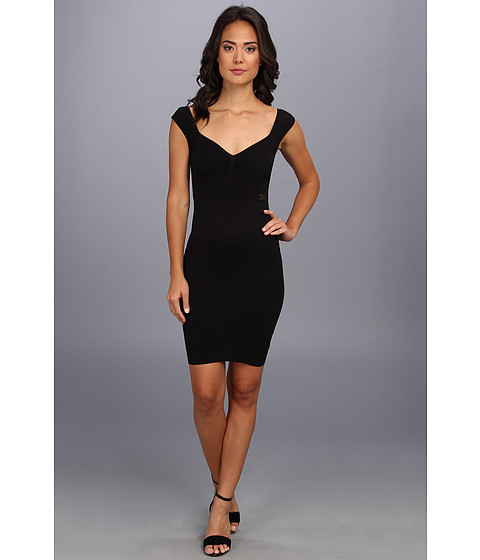 Free People - Bodycon Seamless (Black) Women's Dress