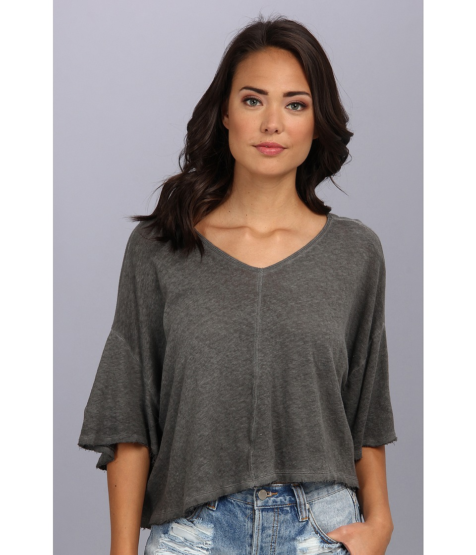 Free People - Kim's Tee (Black) Women's Short Sleeve Pullover