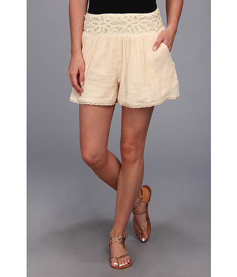 Free People - Crochet Gauze Short (Tea) Women's Shorts
