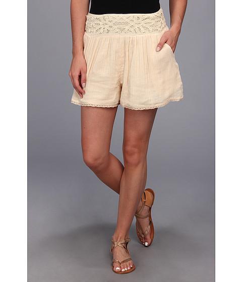 Free People - Crochet Gauze Short (Tea) Women's Shorts