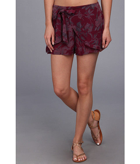 Free People - Print Sarong Short (Plum Pie Combo) Women's Shorts