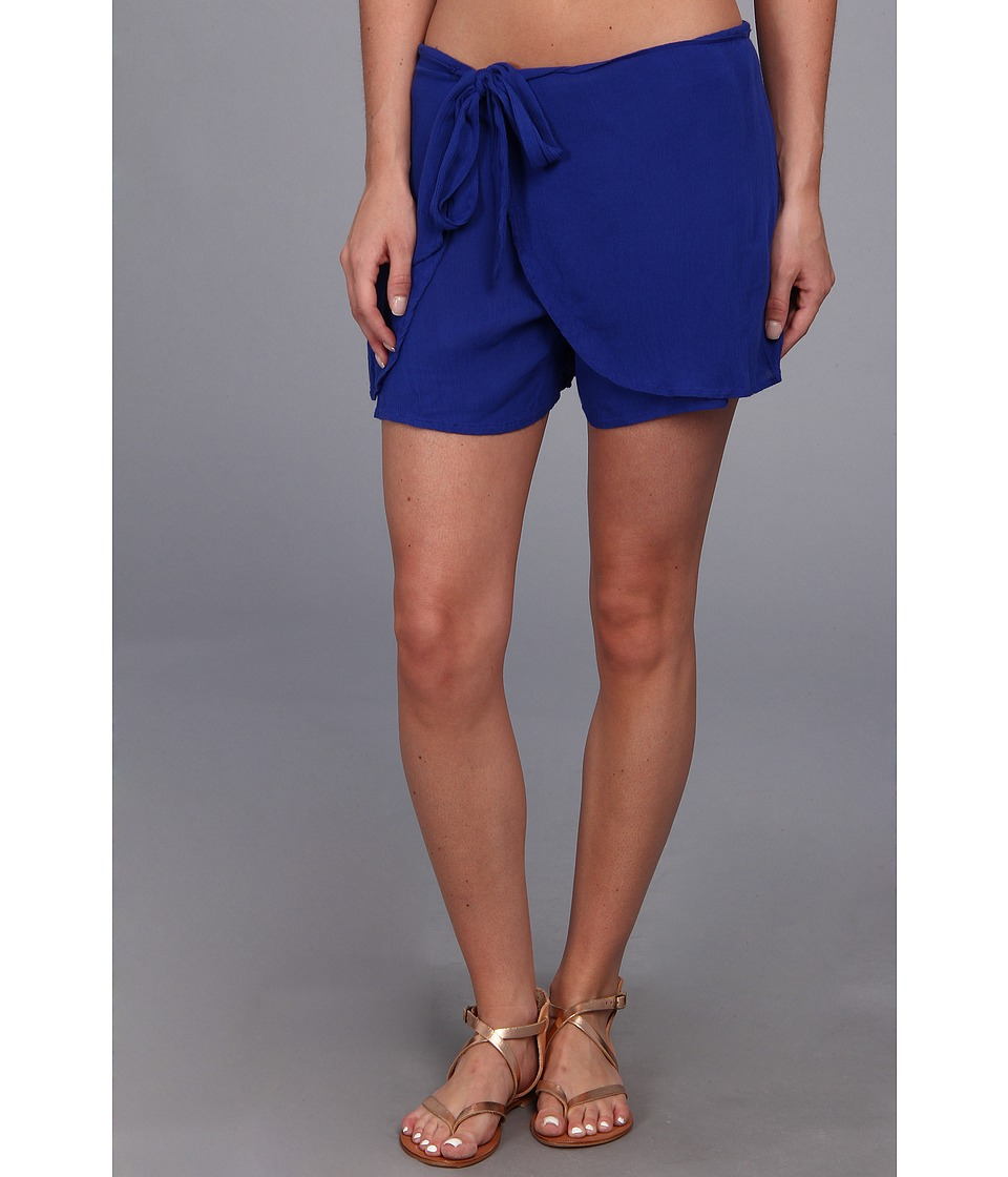 Free People - Solid Sarong Short (Cobalt/Cobalt/Academy) Women