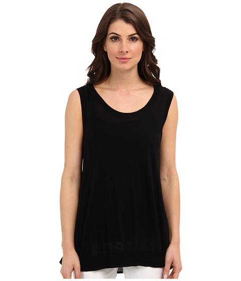 Calvin Klein - S/L Mix Media Shell (Black) Women