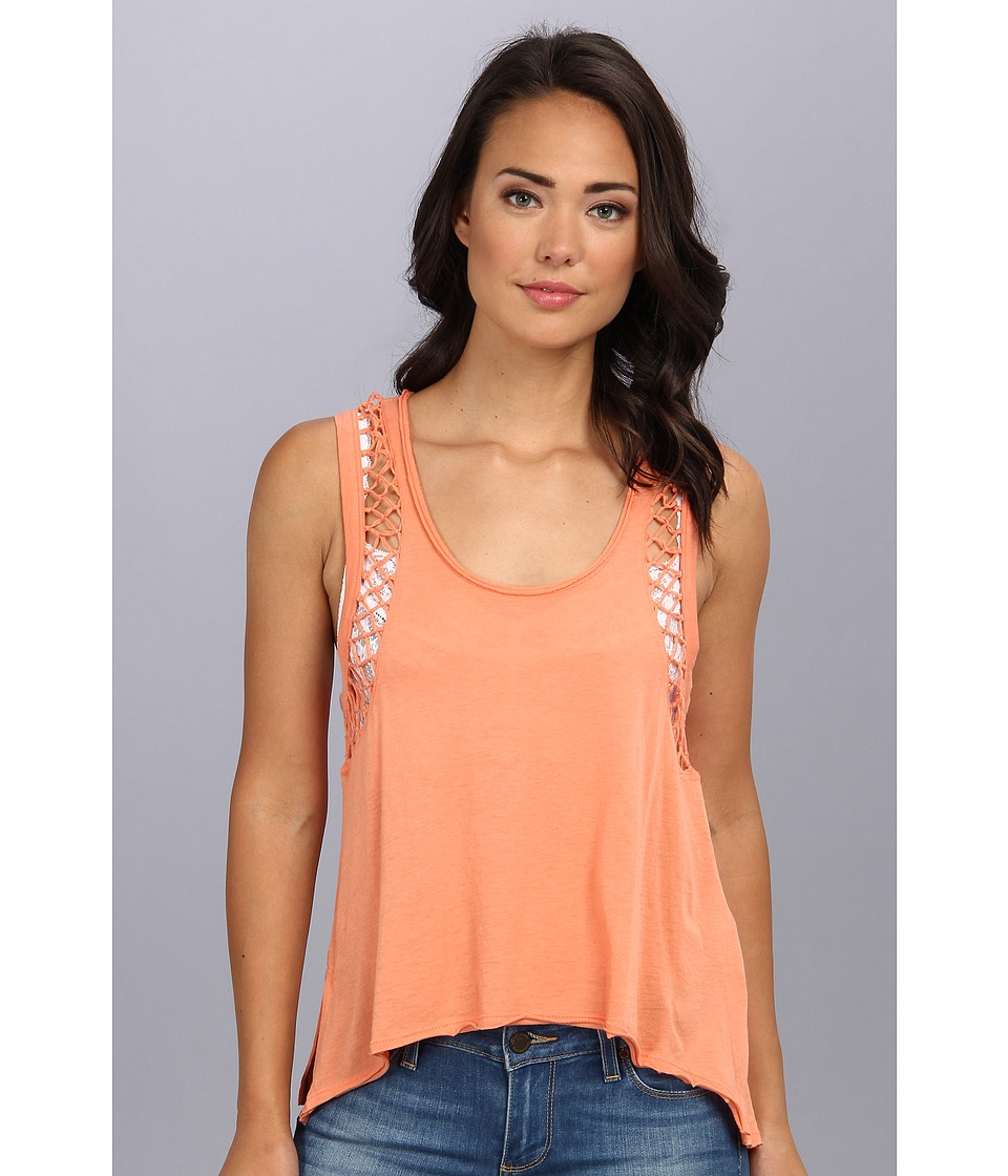 Free People - Neptune Knotted Tank (Sunrise Orange) Women's Sleeveless