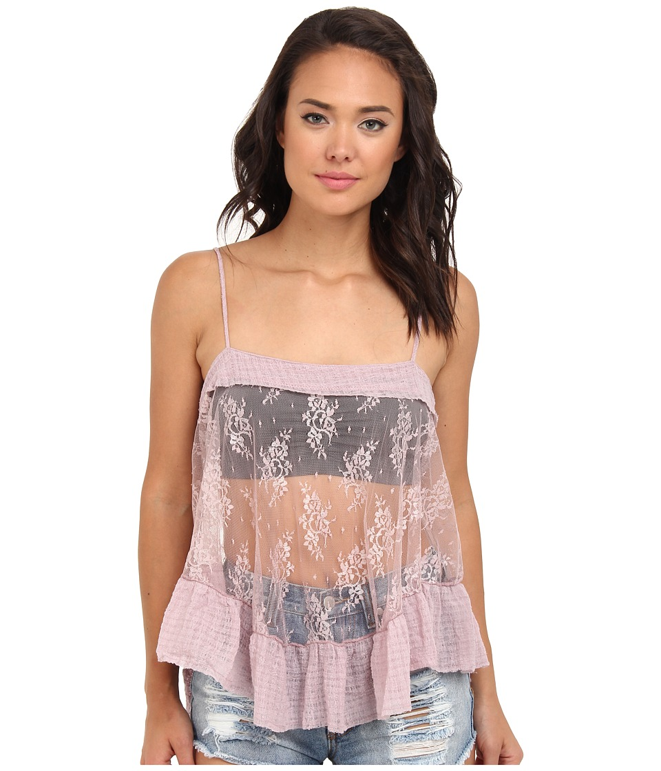 Free People - Lace Trapeze Cami (Misty Pink) Women's Sleeveless