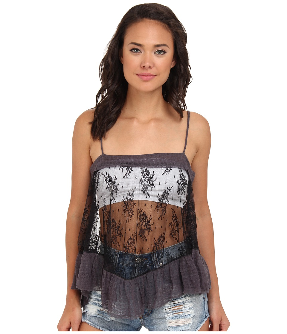 Free People - Lace Trapeze Cami (Black) Women's Sleeveless