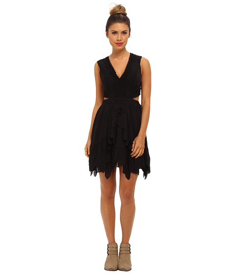 Free People - Honeysuckle Dress (Black) Women's Dress
