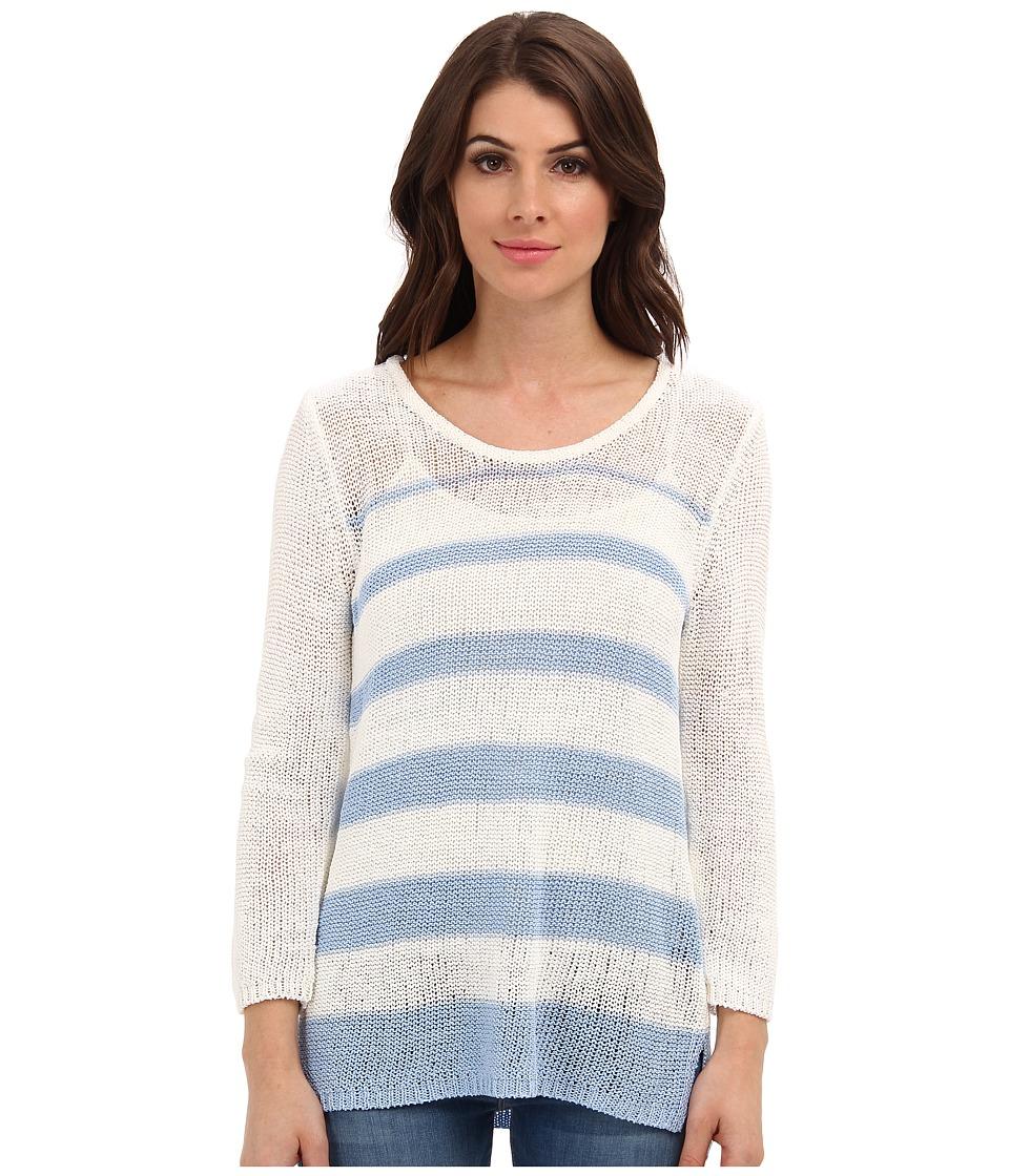 Calvin Klein - Variegated Stripe Pullover (White/Iceburg) Women