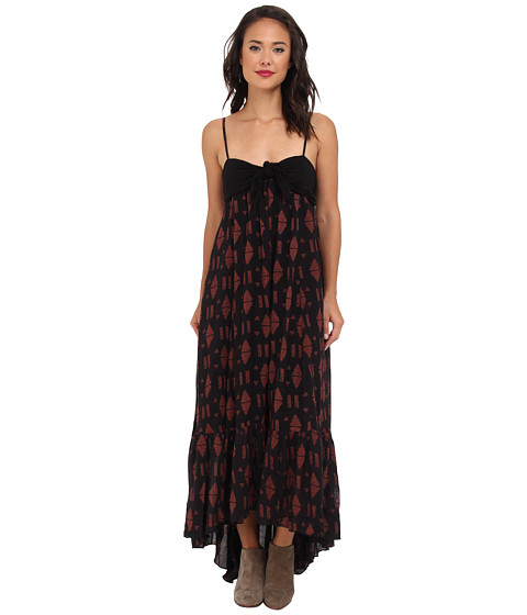 Free People - Print Totally Tublr Dress (Black Combo) Women's Dress
