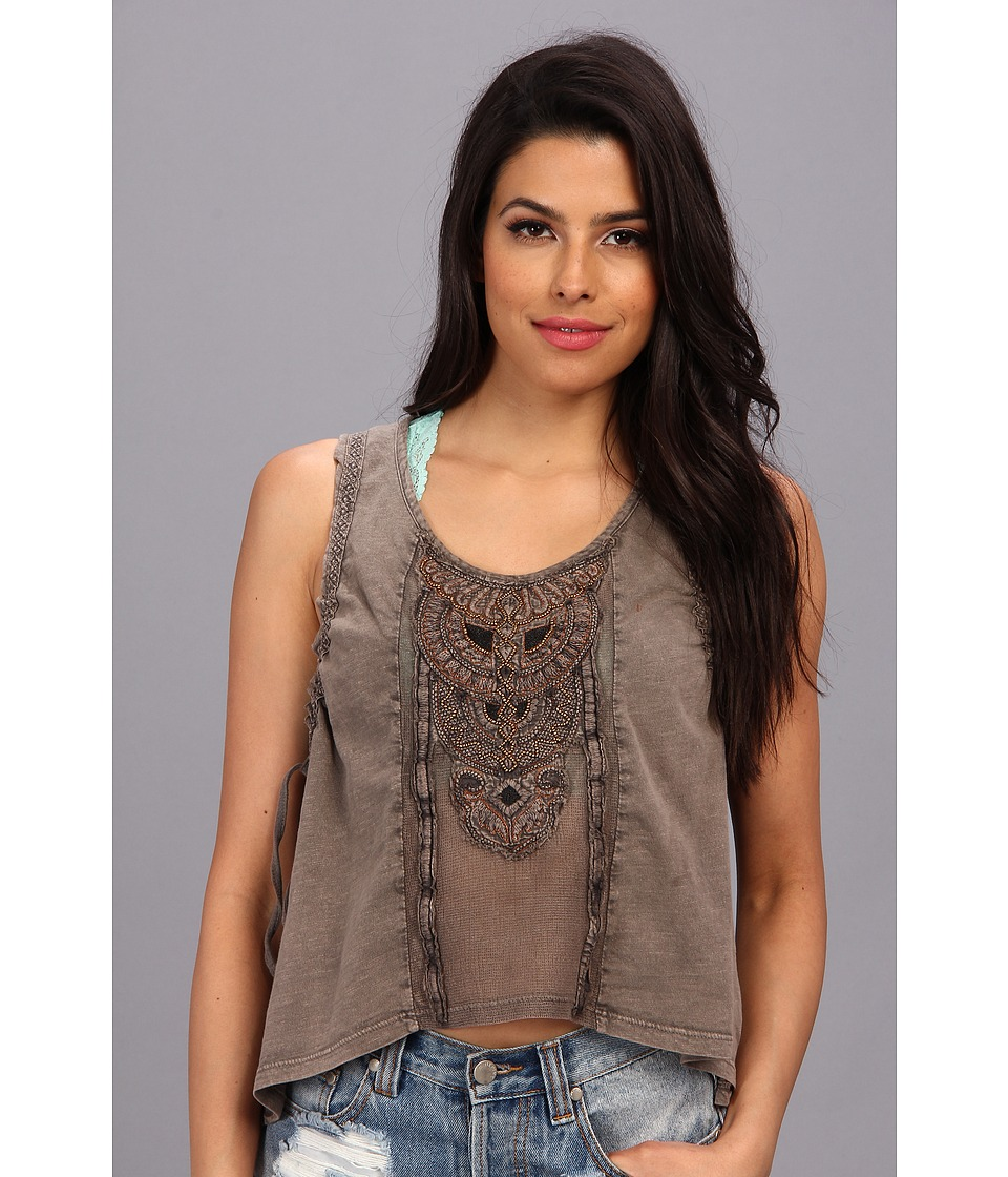 Free People - Lonesome Dove Top (Washed Black) Women