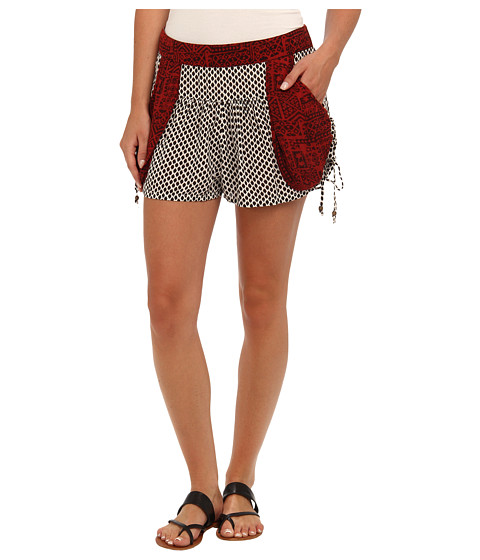 Free People - Mix Print Short (Washed Black Combo) Women