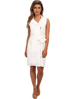 SALE! $59.99 - Save $70 on Calvin Klein Moto Dress w Zips (Soft White) Apparel - 53.68% OFF $129.50
