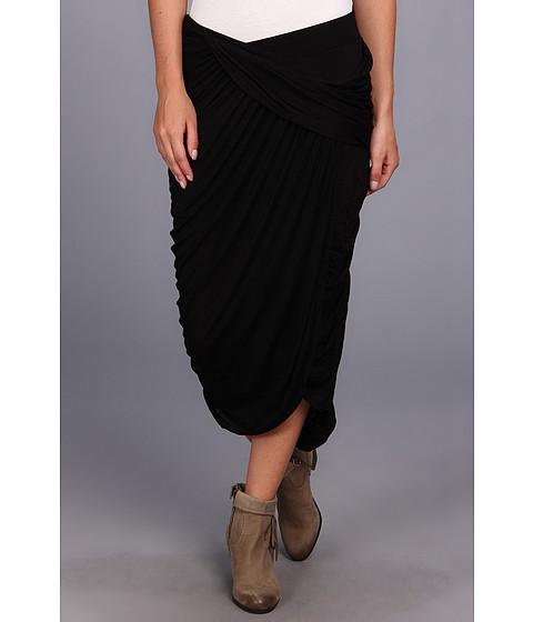 Free People - Grecian Cascade Skirt (Black) Women