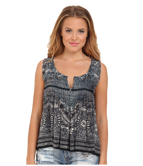 Free People - Myna Tank (Black Combo) Women's Sleeveless