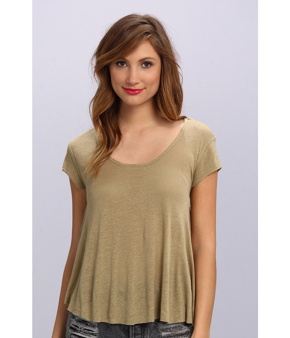 Free People - Breezy Knot Back Tee (Sage) Women's T Shirt