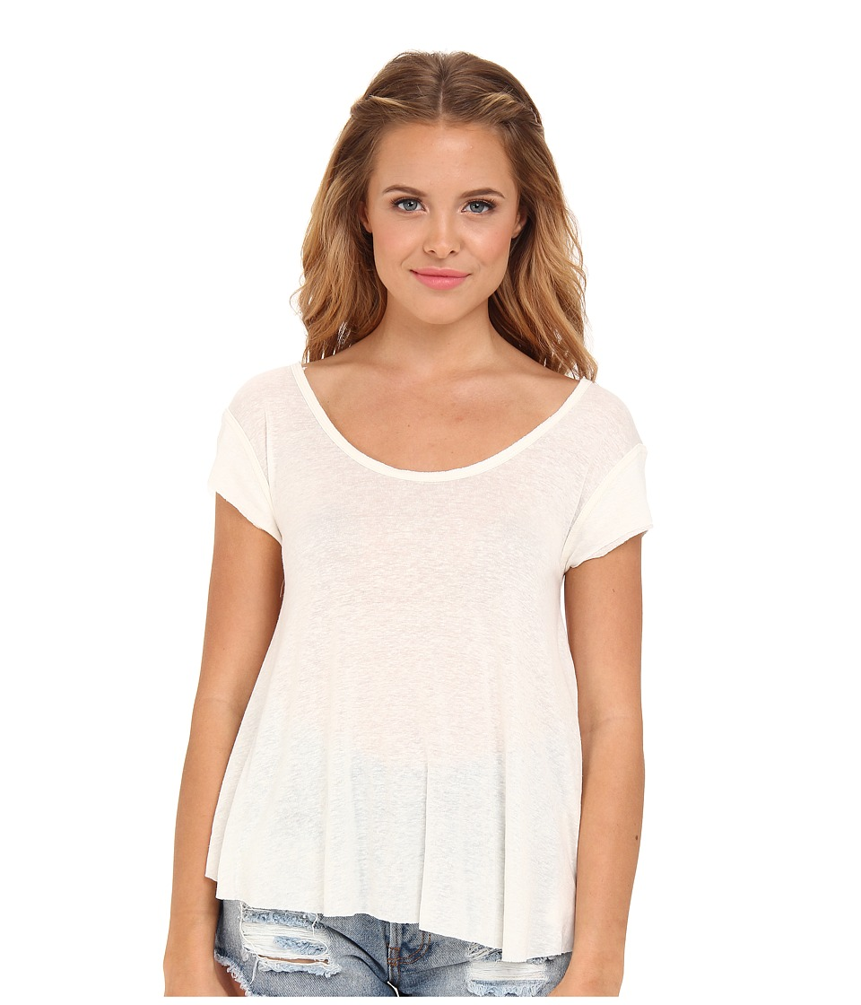 Free People - Breezy Knot Back Tee (Ivory) Women's T Shirt