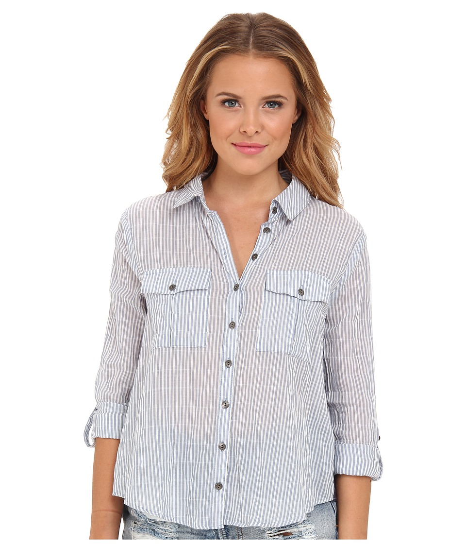 Free People - Party In Back Top (Oxford Combo) Women's Blouse