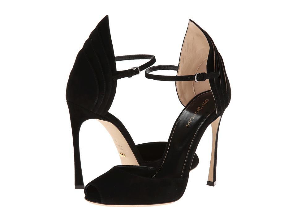 Sergio Rossi - Fleur (Black/Nude) Women's Shoes