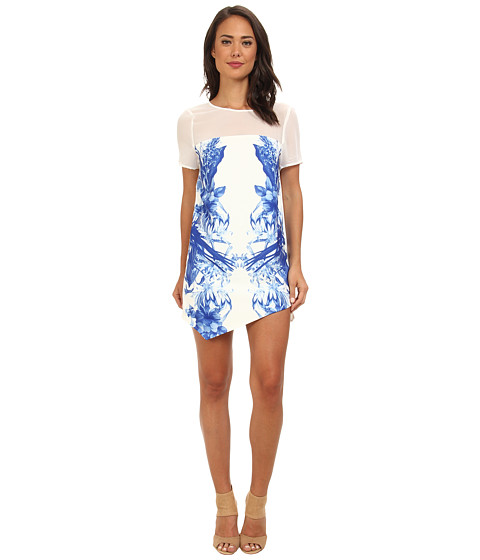 StyleStalker - Run Away With Me Dress (Blue Floral) Women's Dress