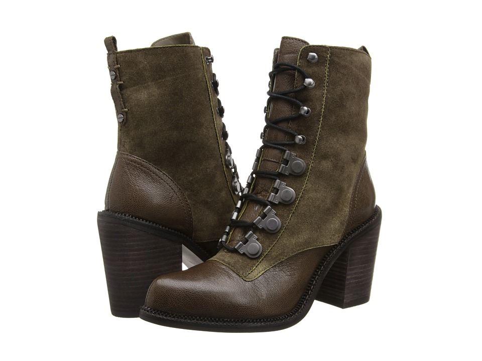 Luxury Rebel - Mara (Khaki/Green) Women's Lace-up Boots