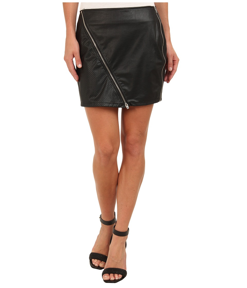 Sanctuary - Perforated Vegan Mini (Black) Women's Skirt