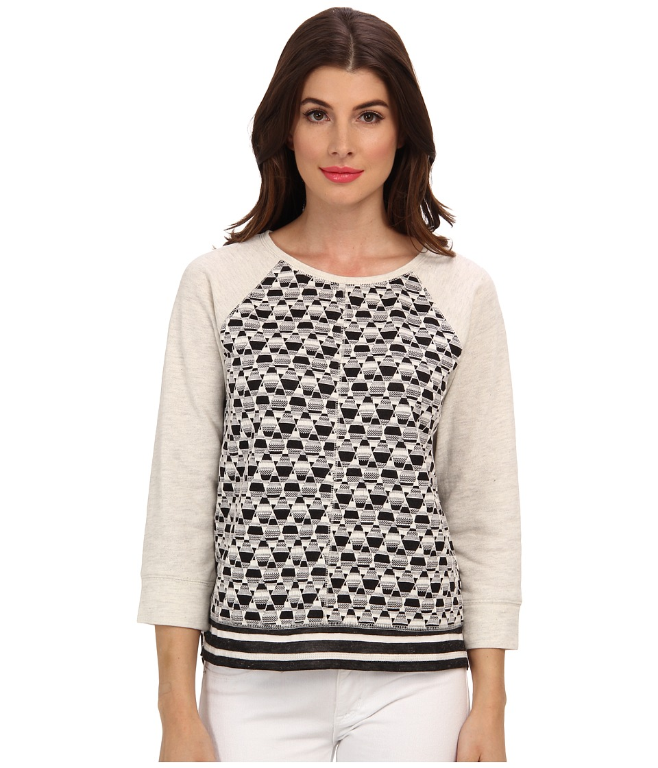 Sanctuary - Diamond Sweater (Black/Grey White) Women's Sweater